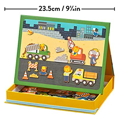 Petit Collage Magnetic Play Scene, Construction, Ages 4+ Years: Toys & Games