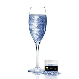 Sky Blue BREW GLITTER Edible Glitter For Wine, Cocktails, Champagne, Drinks & Beverages   4 Grams   KOSHER Certified   100% Edible & Food Grade   Kosher Certified   Vegan, Gluten, Nut Free