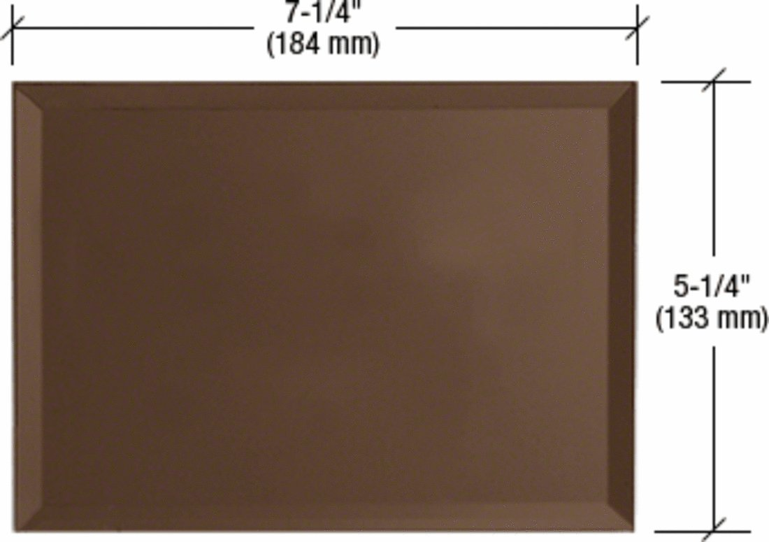 CRL Bronze Triple Blank Without Screw Holes Glass Mirror Plate