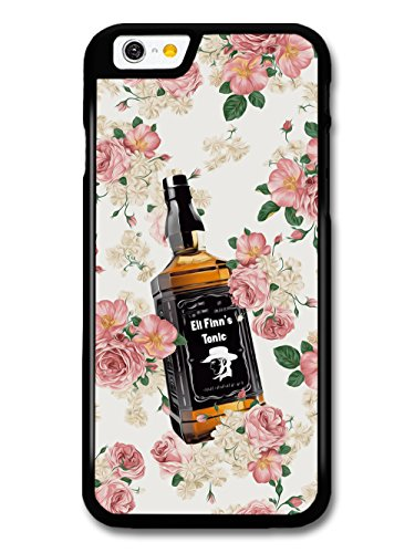 Cool Goth Grunge Tennesee Whiskey Bottle in Floral Pattern with Pink Roses case for iPhone 6 6S