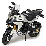 Maisto 1/12 Scale Motorcycle: DUCATI Multistrada 1200S (Black/White)