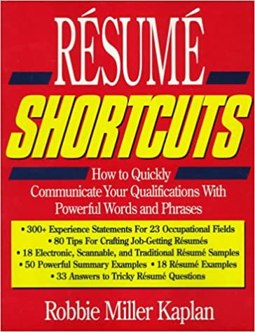 resume shortcuts how to quickly communicate your qualifications