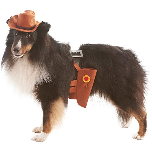 [Cowboy Dog Costume-Extra Small/Small] (Dog Cowboy Costume)