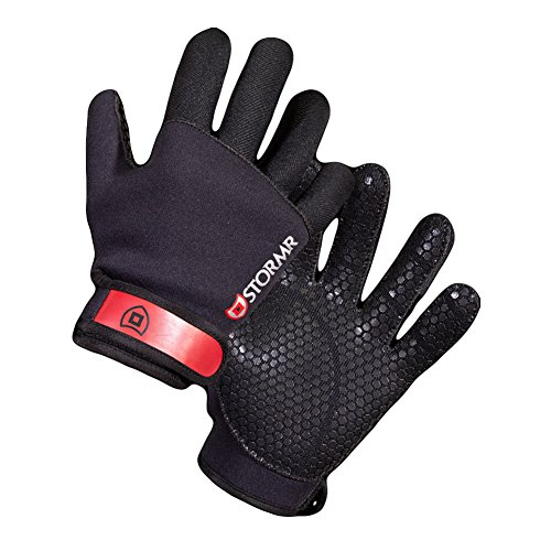 Stormr Strykr Kevlar 2mm Neoprene Women and Men's Glove - Fully Lined Micro-Fleece Gloves with Adjustable Wrist Closures - Ideal for Ice Fishing, Winter Conditions, and Foul Weather, L