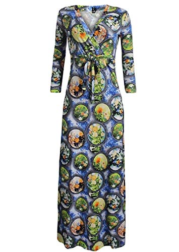 Printed Fall Waisted As5 Casual High Neck V Floral Winter Coolred Dress Women tE6qYY
