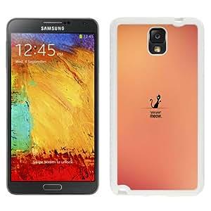 Beautiful Unique Designed Cover Case For Samsung Galaxy Note 3 N900A N900V N900P N900T With Meow White Phone Case