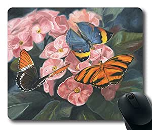 """Amazing Painting Art Papillons Oblong Mouse Pads/ Standard Rectangle Gaming Mousepad in 9""""7"""
