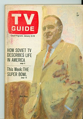1968 TV Guide Jan 13 Bob Hope - Eastern New England Edition NO MAILING LABEL Excellent (5 out of 10) Lightly Used...