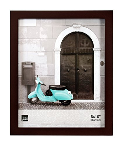 Kiera Grace Contempo Wood Picture Frame, 8 by 10-Inch, (Espresso Frame)
