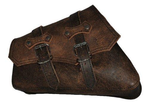 - La Rosa Harley-Davidson Sportster XL Rustic Brown Leather ClaSICK Left Swing Arm Saddle Bag