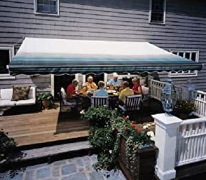 Amazon.com: Sunsetter Manual 11FT Awning with Green Stripe ...