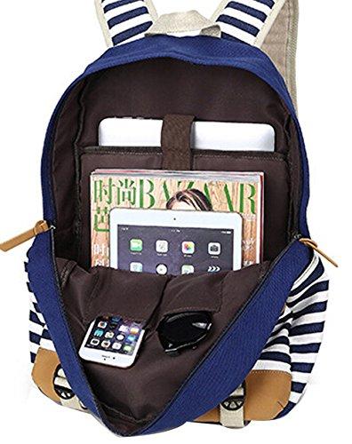 DATO Bolso Mochilas Escolares Raya Mochila de Lona para Mujer Moda Moda Juvenil Grand Capacidad Viaje Mochilas Tipo Casual Backpacks Khaki