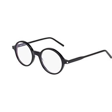 da2ed6a8e2 Image Unavailable. Image not available for. Color  Saint Laurent SL 49 001  BLACK   BLACK Eyeglasses