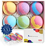 Bath Bombs Gift Set USA, 5.4oz x 6 Organic & Natural bath bomb kit,Lush Spa Fizz Bubble Bath,Birthday Surprise Presents for Pregnant/Women/kids/Girlfriends/Wife with Essential Oil/Shea/Cocoa Butter