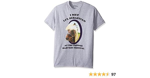 HXHSA Parks and Recreation Lil Sebastian Adult Heather Gray T-Shirt