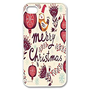 Custom New Cover Case for Iphone 4,4S, Merry Christmas Phone Case - HL-711139