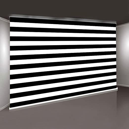 Zhy Black and White Stripes Photography Backdrop Simple Classic Photo Background Vinyl 7x5ft Shooting Props HXPH124