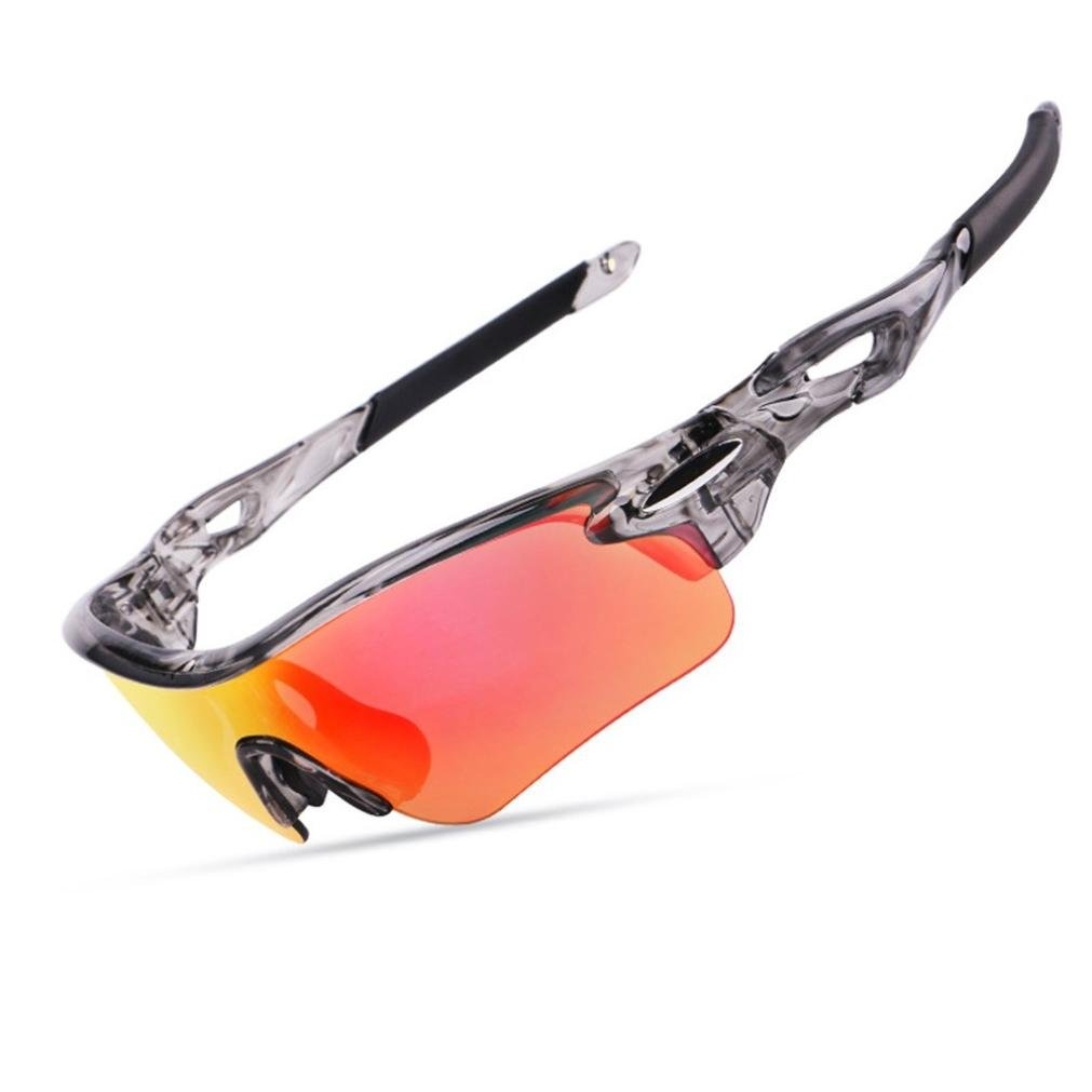 Ikevan Outdoor Sunglasses Anti-UV Glasses Safety Glasses Ergonomic design, comfortable to wear.3 Colors (Gray) by Ikevan