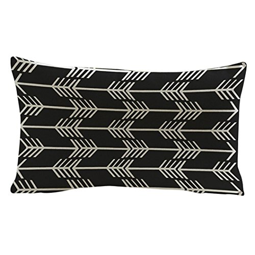 GBSELL Pillow Cover Arrow Printing Pillow Case Cafe Home Party Christmas Decor Cushion (B)