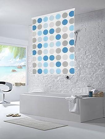 Moderne dusche mit duschvorhang  Halb-Kassetten Duschrollo Duschvorhang 100cm Breite / Retro ...