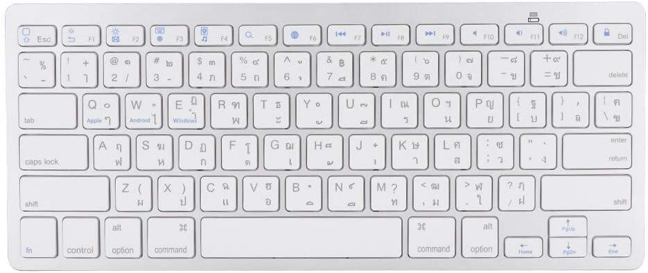 Ultra-Thin Multi-Functional Arabic Language Keyboard for Apple Mac//Windows//Android Office Home Mouse Wireless Bluetooth Keyboard