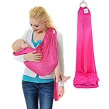 Xcellent Global Baby Wrap Sling Carrier - 100% Polyester, Quick Dry, Comfortable, Lightweight, Breathable & Durable - Suitable for Newborns to 44 lbs, Best Baby Shower Gift, Pink HG121P