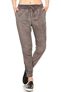 79ad54529d3be ShoSho Womens Shiny Crushed Velvet Joggers Pants with Pockets