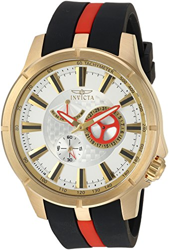 Invicta Men's S1 Rally Stainless Steel Quartz Watch with Polyurethane Strap, Two Tone, 23 (Model: 20333)
