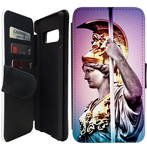 - Flip Wallet Case Compatible with Galaxy S10 (Pallas Athena Greek Goddes) with Adjustable Stand and 3 Card Holders | Shock Protection | Lightweight | Includes Free Stylus Pen by Innosub