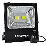 LEPOWER 100W LED Floodlight, Super Bright Outdoor Work Lights, 500W Halogen Bulbs Equivalent, IP66 Waterproof Outdoor Lights, 6500K, 9000lm (Daylight White)