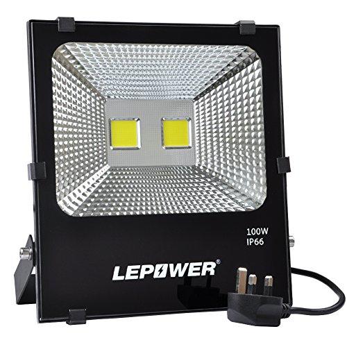 LEPOWER 100W LED Floodlight, Super Bright Outdoor Work Lights, 500W Halogen...