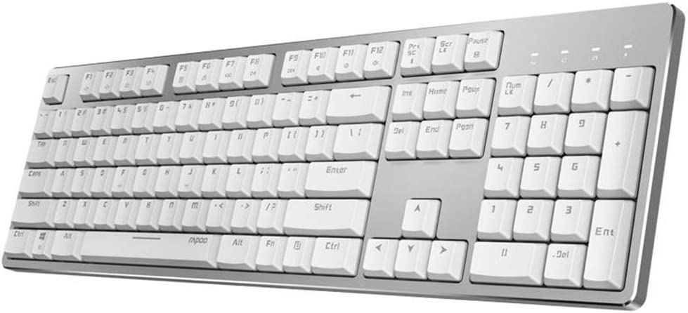 Zxcvlina-OFC Rechargeable Bluetooth Wireless Wired Backlit 104Keys Office Mechanical Gaming Keyboard Windows PC Office Gamer Color : White, Size : One Size