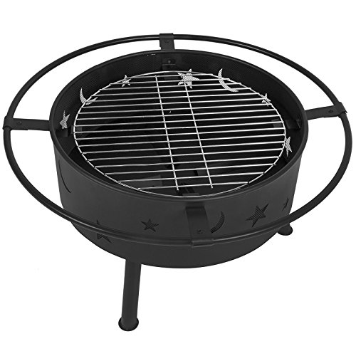 Fire Pit BBQ Grill Fireplace Firepit Fire Bowl Patio You Can BBQ Or You Can Have A Fire Pit All I One.