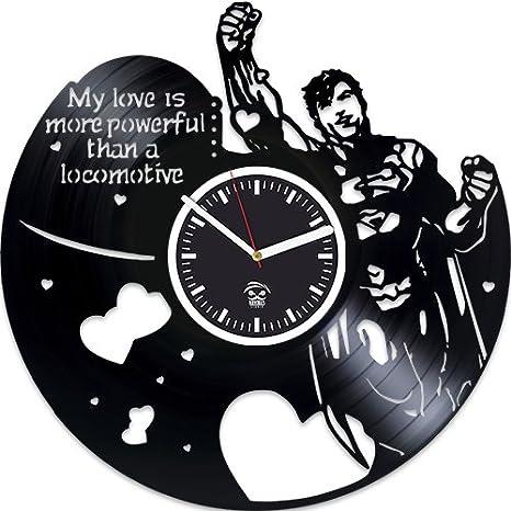 Reloj de pared de vinilo Superman, reloj Henry Cavill, Marvel, DC Movie,