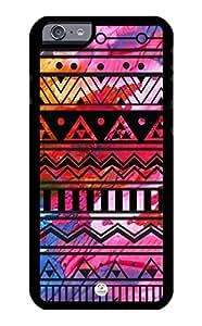 linJUN FENGiZERCASE iPhone 6 PLUS Case Colorful Aztec Art Pattern RUBBER CASE - Fits iPhone 6 PLUS T-Mobile, Verizon, AT&T, Sprint and International