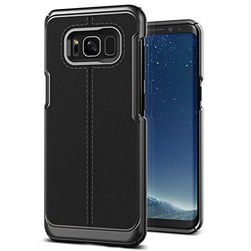 Galaxy S8 Plus Case :: VRS :: Luxury Lightweight Cover :: Premium PU Leather :: hybrid Slim Thin Fit Case for Samsung Galaxy S8 Plus (Simpli Mod - Black)
