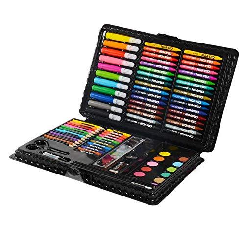HQYDBB Kids Premium Art Set, 109 Set da Dipinto per Bambini, Pennello per Scuola primaria, Combinazione di cancelleria con Penna Acquerello, B