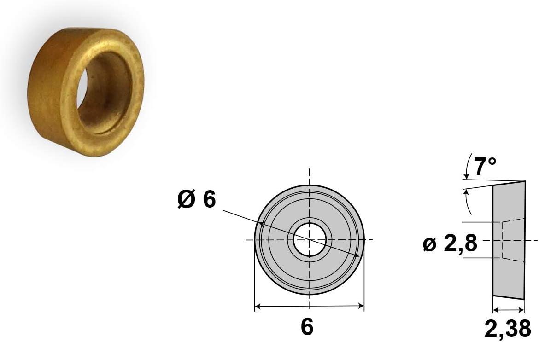10x4x8 mm F Fityle 10x Messing Chicago Schrauben Buch Schrauben vernickelte Buchbinderschrauben DIY Basteln Schrauben