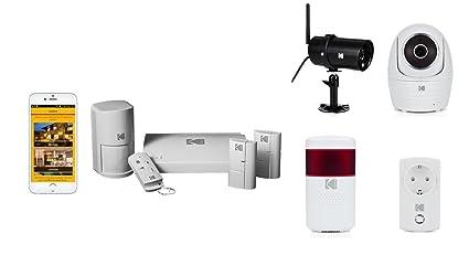 KODAK Pack de alarma conectada KOSAIEOP (batería y sirena ...