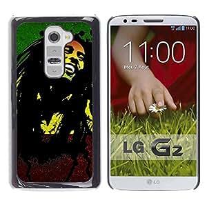 FECELL CITY // Duro Aluminio Pegatina PC Caso decorativo Funda Carcasa de Protección para LG G2 D800 D802 D802TA D803 VS980 LS980 // Jamaica Reggae Music Rasta Weed