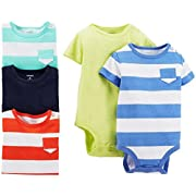 Carter's 5 Pack Bodysuits (Baby) - Stripes/Solids-24 Months