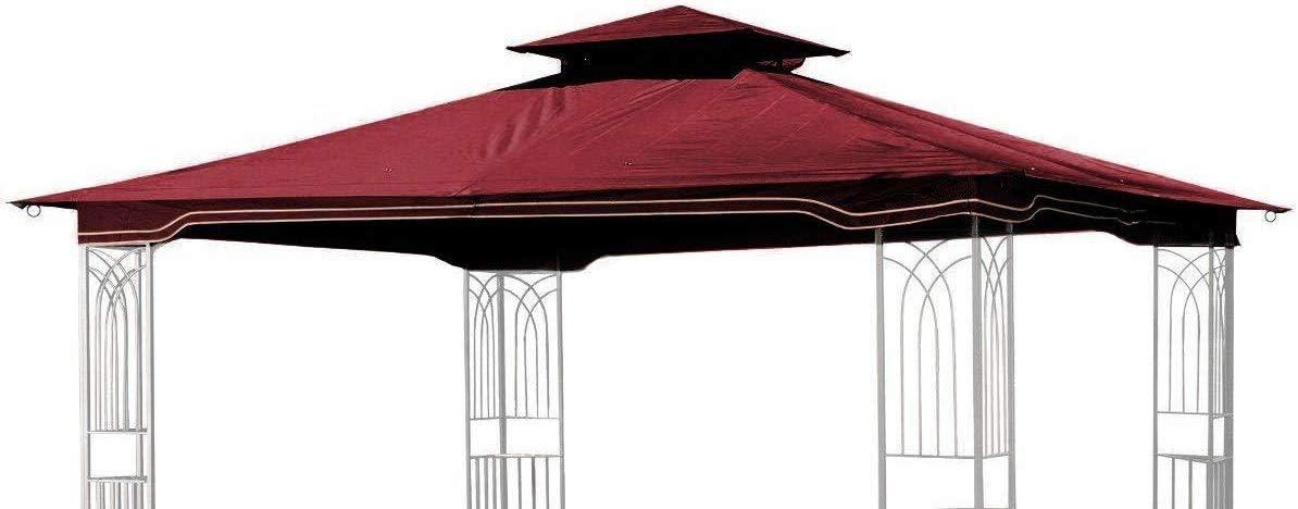 Sunjoy Replacement Gazebo Canopy for 10 x 12 Regency II Patio Gazebo, Maroon