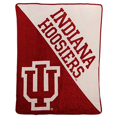 The Northwest Company NCAA Collegiate Half Tone Super Soft Plush Throw Blanket (Indiana Hoosiers)