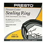 Presto 09919 Pressure Cooker / Canner Gasket; Sealing Ring & Auto Air Vent Pack