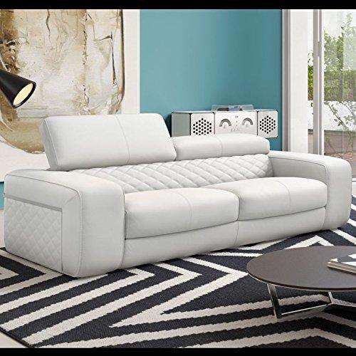 Designer Sofa Leder Couch Sofagarnitur Zweisitzer Polstergarnitur