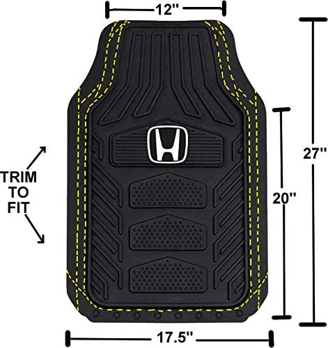 Floor mat Set Honda 4 Pc Plasticolor 001670R01 Weatherpro Black One Size Vehicle