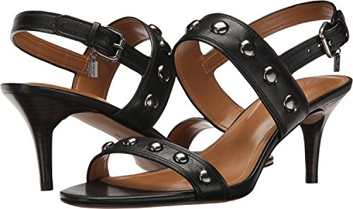 Coach Womens Mandy Open Toe Casual Strappy Sandals, Black, Size 5.5