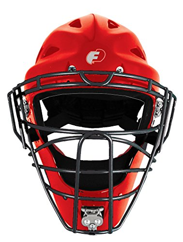 FORCE3 - The SAFEST Catcher's Mask ever made! (Hockey Style) Youth. NOCSAE Certified. Red by Force3