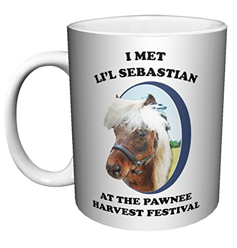 Parks and Recreation Farewell Li'l Lil Sebastian Workplace Comedy TV Television Show Ceramic Gift Coffee (Tea, Cocoa) (11 oz C-HANDLE CERAMIC MUG)