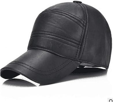 Gorra de b/éisbol Simple y vers/átil para pap/á GHC Gorras y Sombreros Sombrero de Piel de Vacuno Real para Hombre Gorra de b/éisbol de Cuero 100/% Moda